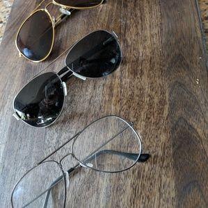 Aviators (3 types) - Gold, Gunmetal, Glasses